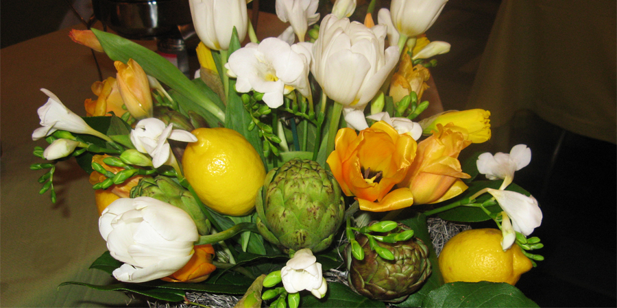 tulips, lemons, and artichokes